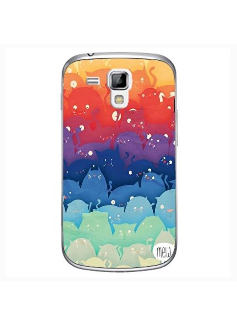 People's Cover S3 Mini Kabartmalı Telefon Kılıfı Renkli